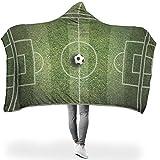 O5KFD&8 Groß Hooded Blanket Fußballplatz Themen Drucken Raben Prämie Super Soft Tragbare Decke...