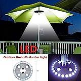 Kenyaw Sonnenschirm LED Beleuchtung 28 LED Super Hell Sonnenschirmbeleuchtung für Umbrella Camping...