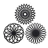 Silikon Multi Blume Topfuntersetzer (3 Stück) Premium Qualität Isolierter flexibel robust...