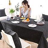 EVIN Tischdecke, Baumwolle und Leinen, wasserdicht und ölabweisend, Dicke rechteckige Tischdecke,...