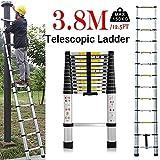 Teleskop-Leiter, ausziehbar, tragbar, multifunktional, Aluminiumleiter, 150 kg, maximale Belastung...