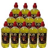 12x 1 Liter Flaschen Brenngel Gelkamine Ethanolkamine Wandkamine Gel Bioethanol