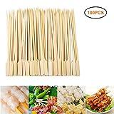 BYJIN 100PCS Holzspiesse, Fingerfood Spiesse, 12cm - Naturholzspieße 100% Bambus - Perfekt für...