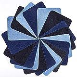 Bügelflicken Flicken Zum Aufbügeln 18 Stück 3 Farben Denim Baumwolle Patches Bügeleisen...