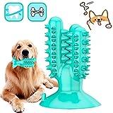 DERU Hundezahnbürste, Zahnbürste Hund, Hunde Zahnpflege Spielzeug, Kaustick aus Naturkautschuk,...