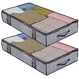 homyfort 2 Stck Premium Unterbettkommode mit Sichtfenster, Unterbett-Aufbewahrungstasche...