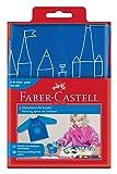 Faber-Castell 201203 - Kinder Malschürze, blau, Einheitsgröße, 1 Stück