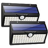 Solarleuchte für Außen, [2 Stück] HETP 78 LED Solarlampe Außen 180° Superhelle Solarleuchte mit...