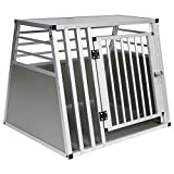EUGAD Hundebox Transportbox Hundetransportbox Alu Reisebox Gitterbox Box L 80 x B 65 x H 65 cm...