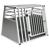 EUGAD Hundebox Autobox Transportbox Alubox Reisebox Gitterbox Alu Box Aluminium 1 Trig 80 * 65 *...