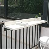 HXFAFA Balkonhängetisch Klappbar,Outdoor-Tisch Balkontisch zum Einhängen aus Metall,Klappbarer...