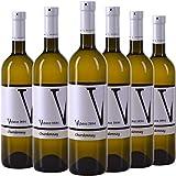 VIPAVA 1894 Weißwein CHARDONNAY 2020, (6 x 0,75 l), von Hand gelesener trockener Weißwein...