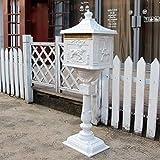 WSHFHDLC Schreiben Aufbewahrungsbox Mailbox Briefkasten Post Box Bodenstehender Briefkasten,...