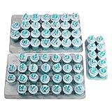 Facibom 26 Stücke Kunststoff Gro? Buchstaben, Klein Buchstaben & 10 Stücke Zahlen Form Kuchen...