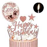 Humairc Kuchendeko Happy Birthday Sterne Cake Topper 10pcs Geburtstagskerzen Metallisch Kuchenkerzen...