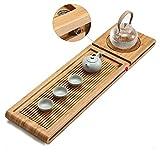 Teetablett aus Bambus für Teehaus, Zuhause, Büro, langlebig und raffiniert geschmackvoll Bambus...