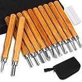 Holz-Schnitzwerkzeug Set,DIAOPROTECT 12 Stück Holz-Schnitzmesser mit Schleifsteine für Kinder,...