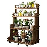 ZDYLM-Y Blumenregal aus Holz, Freistehendes 4-stufiges Pflanzenregal aus Holz mit Mehreren...