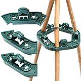 KINGLAKE 2 Stück Plastik Kletterhilfe für Pflanzenstützen, Bohnen Ring für Bambusstöcke...