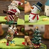 Wealthgirl Satz von 4 Aquarium Ornament Weihnachtsbaum Santa Christmas Elk Schneemann Aquarium...