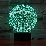 7 farben ändern 3d illusion lampe england fußball nachtlichter 3d schreibtisch licht luminaria...