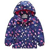 G-Kids Mädchen Wasserdicht Jacke bergangsjacke Regenjacke mit Fleecefütterung Kinder Süß Cartoon...