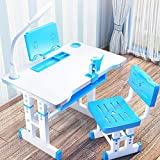 Kinder-Schreibtisch, höhenverstellbar, Kinderzimmertisch und Stuhl-Set, Schreibtisch mit...