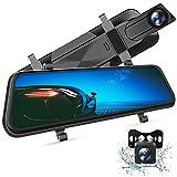 VanTop H610 Spiegel Dashcam Auto vorne hinten, 2,5K Autokamera mit 10' Touchscreen, Nachtsicht mit...