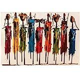 Abstrakte Frau Malerei auf Leinwand PosterWandkunst Bilder für Wohnzimmer Home Decor 60x90cm...