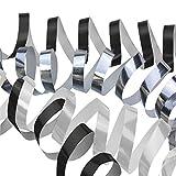 Susy Card 40006765 Luftschlangen, 3er Packung, schwarz/weiß/Silber