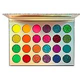 domiluoyoyo Lidschatten Palette Bunt Glitzer, Eyeshadow Palette Leuchtender Lidschatten 24 Farbe...