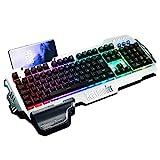 RedThunder K900 Halbmechanisch Gaming Tastatur [Version 2020], QWERTZ DEUTSCH Layout, RGB...