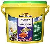 sera 07075 pond flakes 3800 ml - das lange schwimmende Flockenfutter für kleinere Teichfische