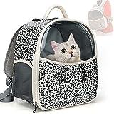 Zedela Katzenrucksack,Hunderucksack für Kleine Katze, Dreiseitig BelüFtet Katzen Rucksack,...