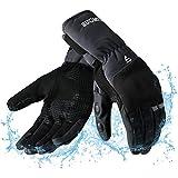 Motorradhandschuhe Winter Touchscreen, wasserdichte Winddichte Warme Lange Stulpe Handschuhe Herren...