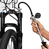 GIYO MTB Motorrad Hochdruck Stoßpumpe 300 PSI / 20 Bar für Gabel & Hinterradaufhängung Größere...