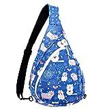 Sling Bag Rucksack Crossbody Rucksack für Damen & Herren – Mehrzweck-Seil Tasche Casual Daypack...