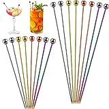 16 Stücke Edelstahl Cocktailspieße Cocktail Picks Cocktail Zahnstocher Mehrfarbig Vorspeise...