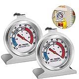 Gefrierschrankthermometer, 2 Stück kühlschrankthermometer set,thermometer rund,eisfach...