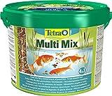 Tetra Pond Multi Mix  Fischfutter fr Teichfische mit vier verschiedenen Futtersorten (Flockenfutter,...