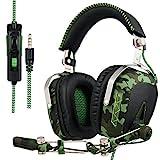 SADES SA 926 Stereo Gaming Headset Over-Ear-Kopfhörer mit Mikrofon für PS4 / PS3 / Xbox One / Xbox...