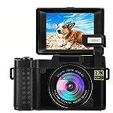 Digitalkamera Kamera 2.7K Fotoapparat Digitalkamera mit Flip Screen Retractable Flashlight