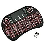 Mini Wireless Keyboard LLP Minii8 Air Mouse 92-Tasten QWERTY 2.4G Wireless-Hintergrundbeleuchtung...