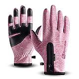 T98 Touchscreen Handschuhe, Fahrradhandschuhe Laufhandschuhe Winter Warme Sporthandschuhe Herren...