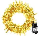 LED Lichterkette, BIGHOUSE 100 LEDs 10M Lichterkette Weihnachten mit Stecker Warmweiß, Wasserdichte...