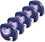 Aken kompatibel Etikettenband als Ersatz für Dymo Etikettenband Transparent Kunststoff, Dymo Clear...