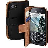 moex Handyhülle für BlackBerry Q10 - Hülle mit Kartenfach, Geldfach und Ständer, Klapphülle, PU...