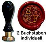 Siegel Stempel Petschaft in der Schriftart Illuminata |24 mm |2 Initialen | 8,2 cm | Eine tolle...