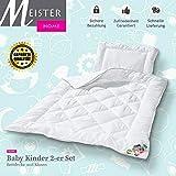 Meisterhome Kinder Bettdecken + Kissen Microfaser Öko-Tex Standard 100 Set 40 x 60 Kissen 100 x 135...