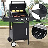 Broilcue BBQ Gas-Grill Louisiana | 3 Brenner | Stahl-Korpus | Grillrost, Deckel mit Thermometer,...